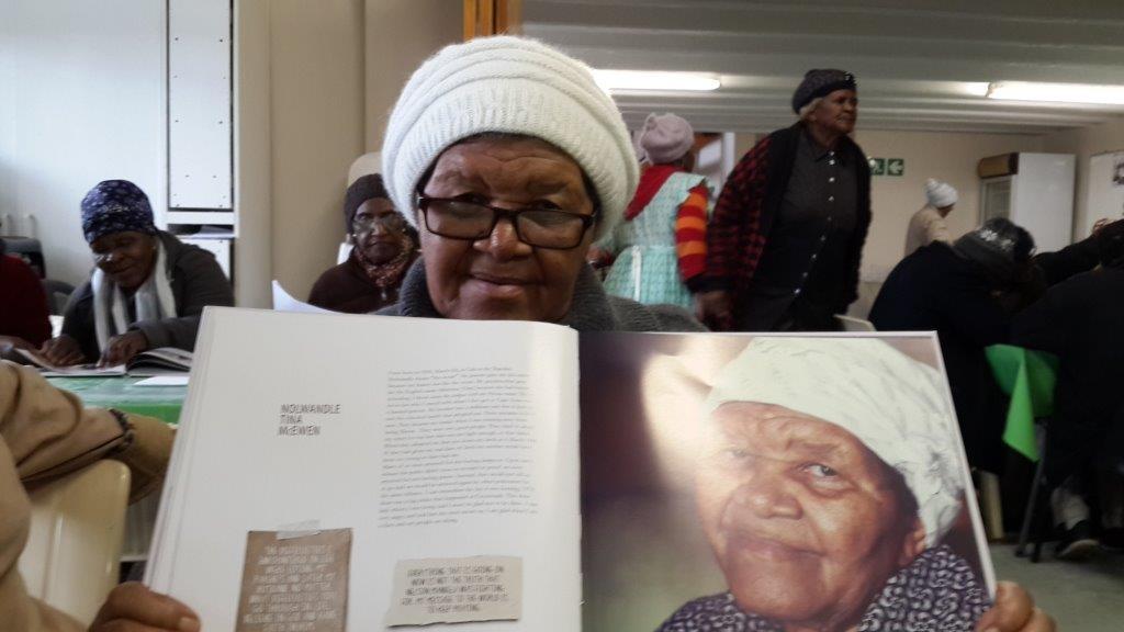 A senior with 'Abantu Abadala: Conversations with the Elders'