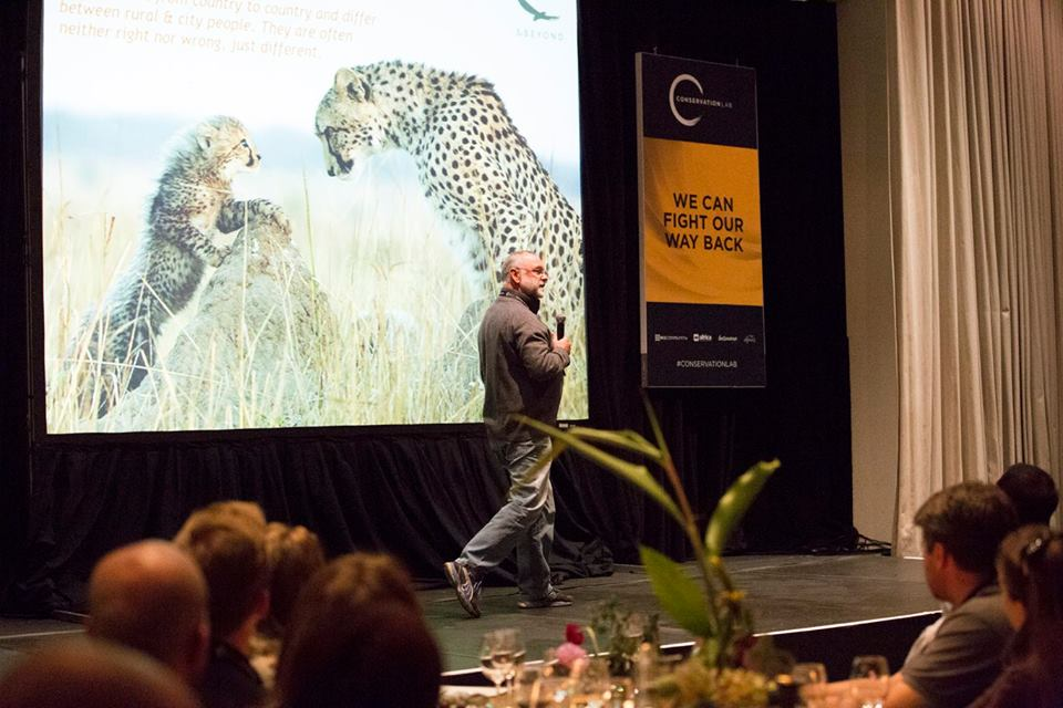 Les gives his TACTIC talk live on stage during Day 1 of the Conservation Lab