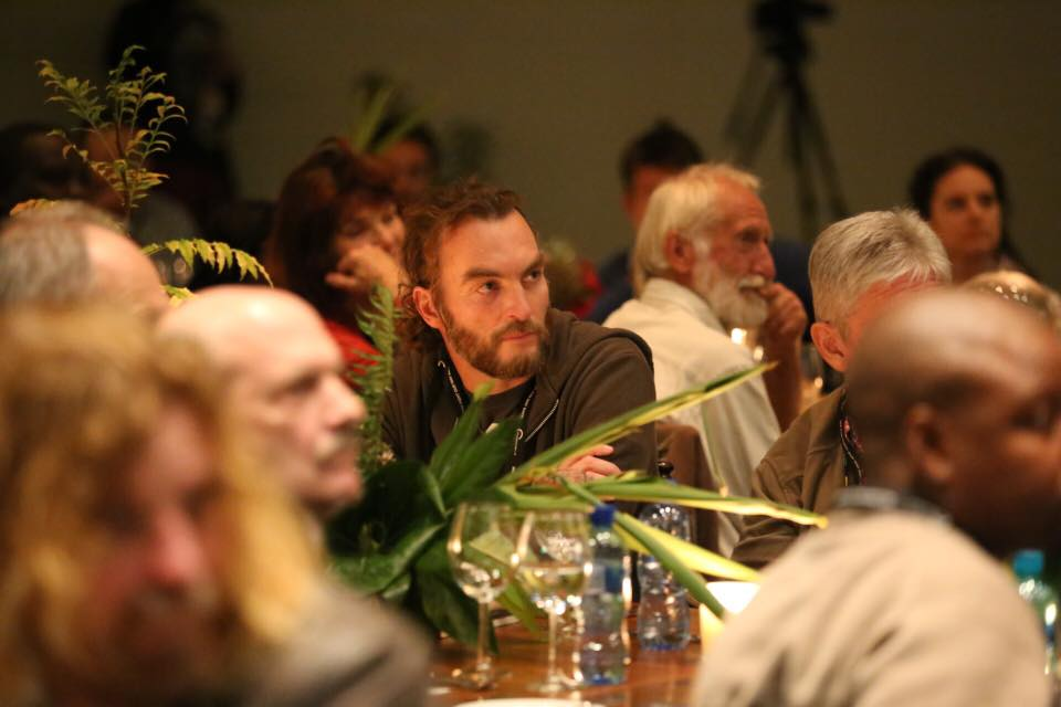 Brent listening to the first night of talks at the Conservation Lab