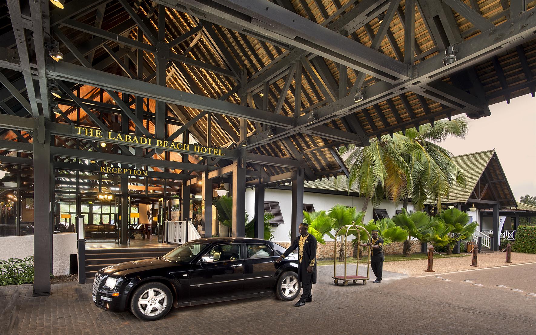 The Lababi Beach Hotel entrance