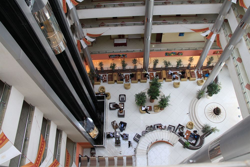 Birdseye view of lobby of new InterContinental Hotel in Addis Ababa