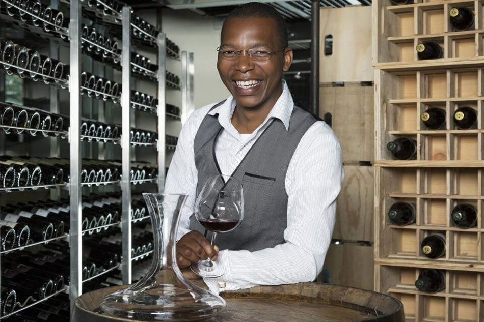 Luvo, the sommelier from OneOnly Cape Town