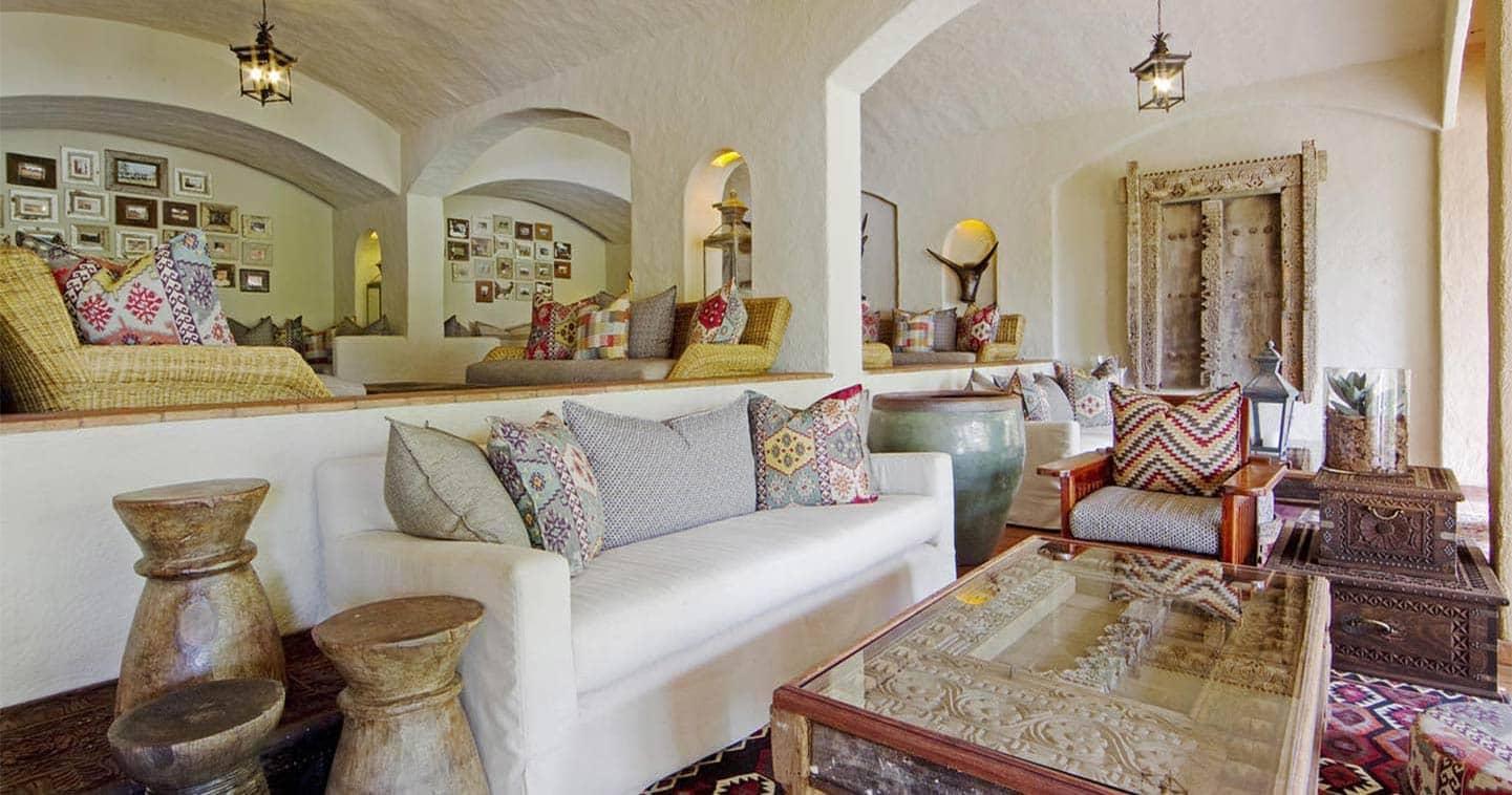 Warm interiors at Chobe Game Lodge