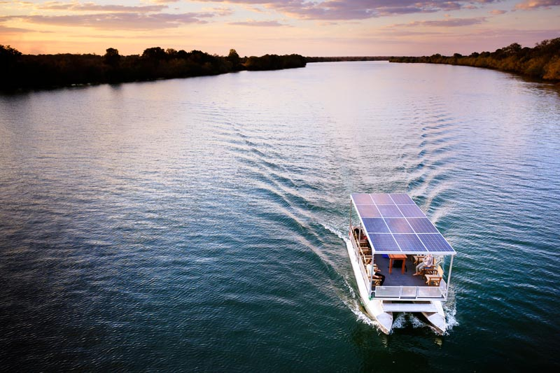 eBoat on the Kafue River – courtesy of Green Safaris