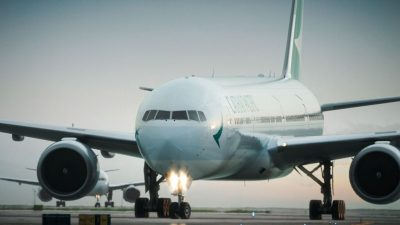 Cathay Pacific aircraft – courtesy of Cathay Pacific