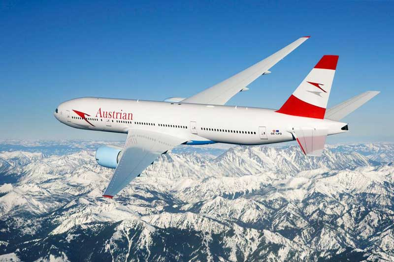 Austrian Airlines aircraft – courtesy of Austrian Airlines aircraft