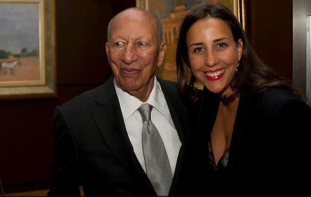 Touria El Glaoui and her father, Hassan El Glaoui – via The Telegraph
