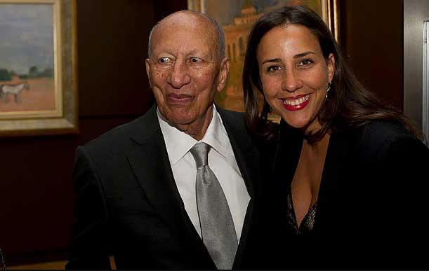 Touria El Glaoui and her father, Hassan El Glaoui –via The Telegraph