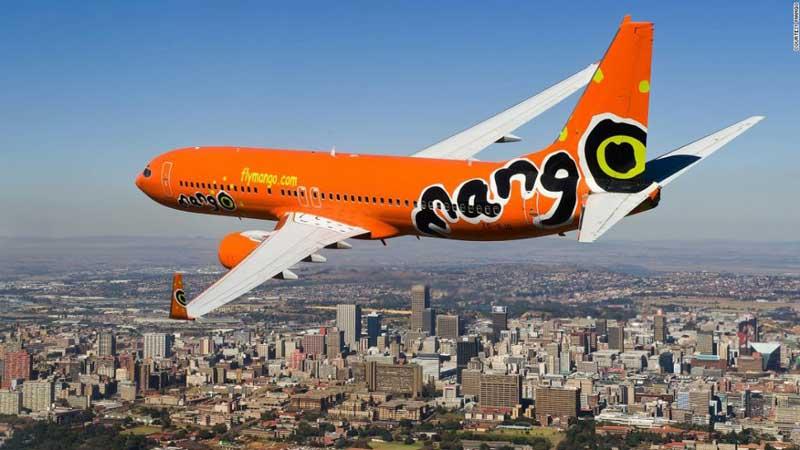 Mango plane in flight over Africa – courtesy of Mango