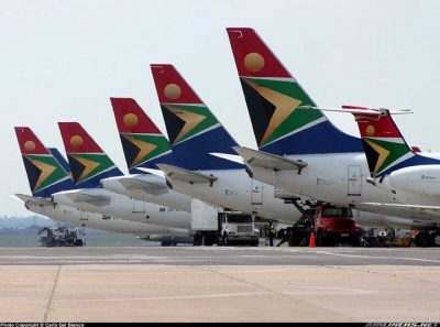 South African airlines – via South Afircan Airlines