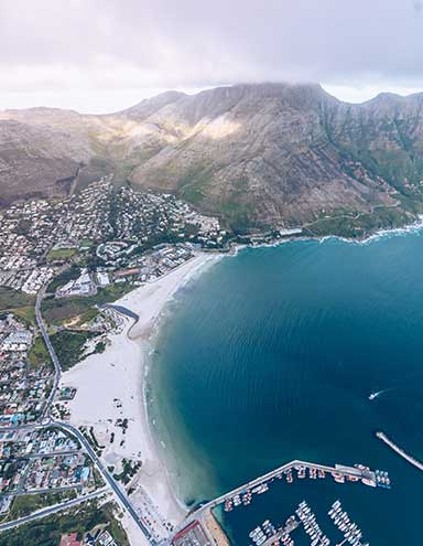Birds-eye view of Cape Town