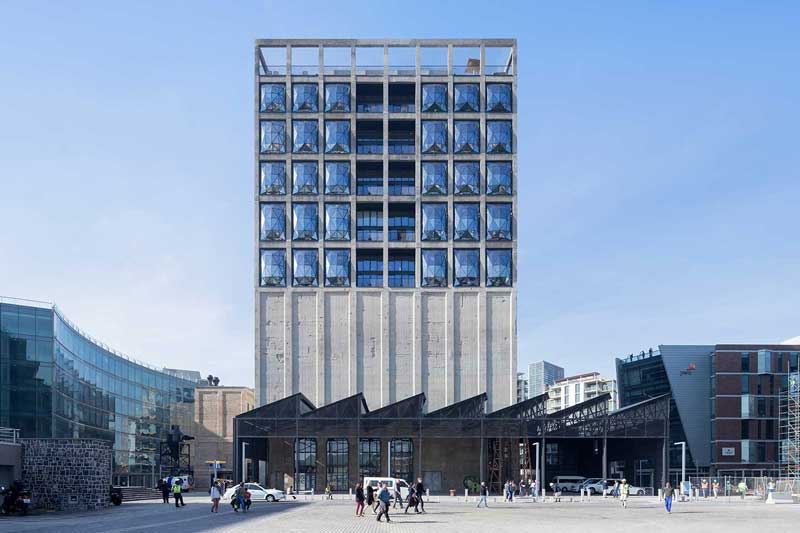 Zeitz Mocaa's grand exterior – courtesy of Heatherwick Studio / by Iwan Baan