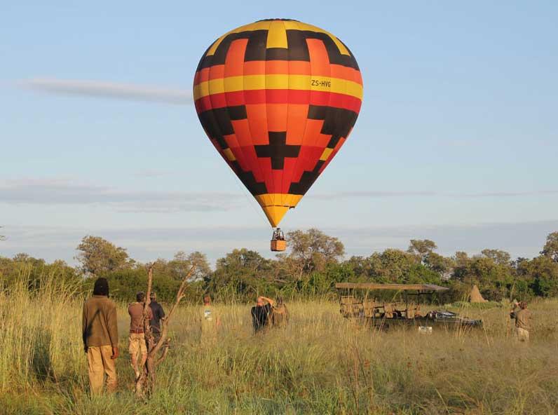 Up, up and away in a hot air balloon at Kazidora Camp – via Kazidora Camp
