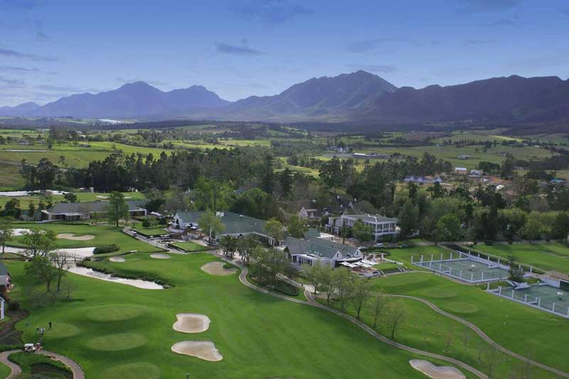 Aerial of Fancourt facilities
