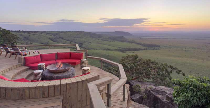 Angama Mara guest area – photos are courtesy of Angama Mara