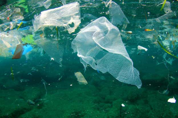 Plastic polluting the ocean by Rich Carey / via NRDC