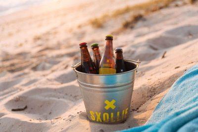 Bucket of SXOLLIE cider –courtesy of SXOLLIE