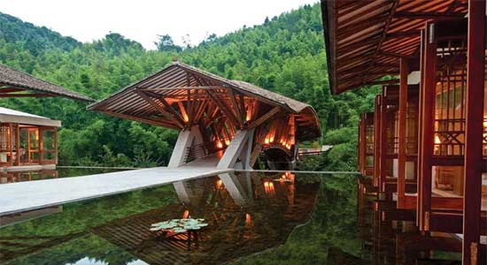 Crosswaters Ecolodge & Spa, China, designed by HM Design – via Pinterest