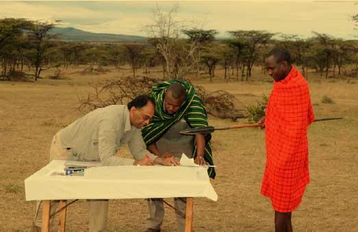 Participatory workshop with Maasai, Kenya –by Munir Virani