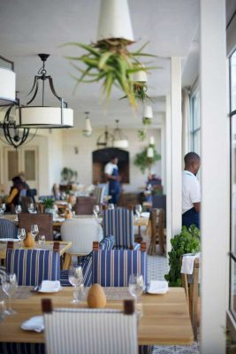 Werf Restaurant interior at Boschendal Farm