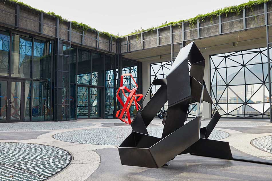 Sculpture garden at Zeitz MOCAA